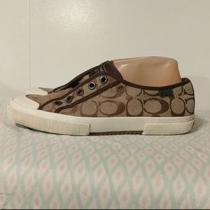 Coach lace-free sneakers size 8